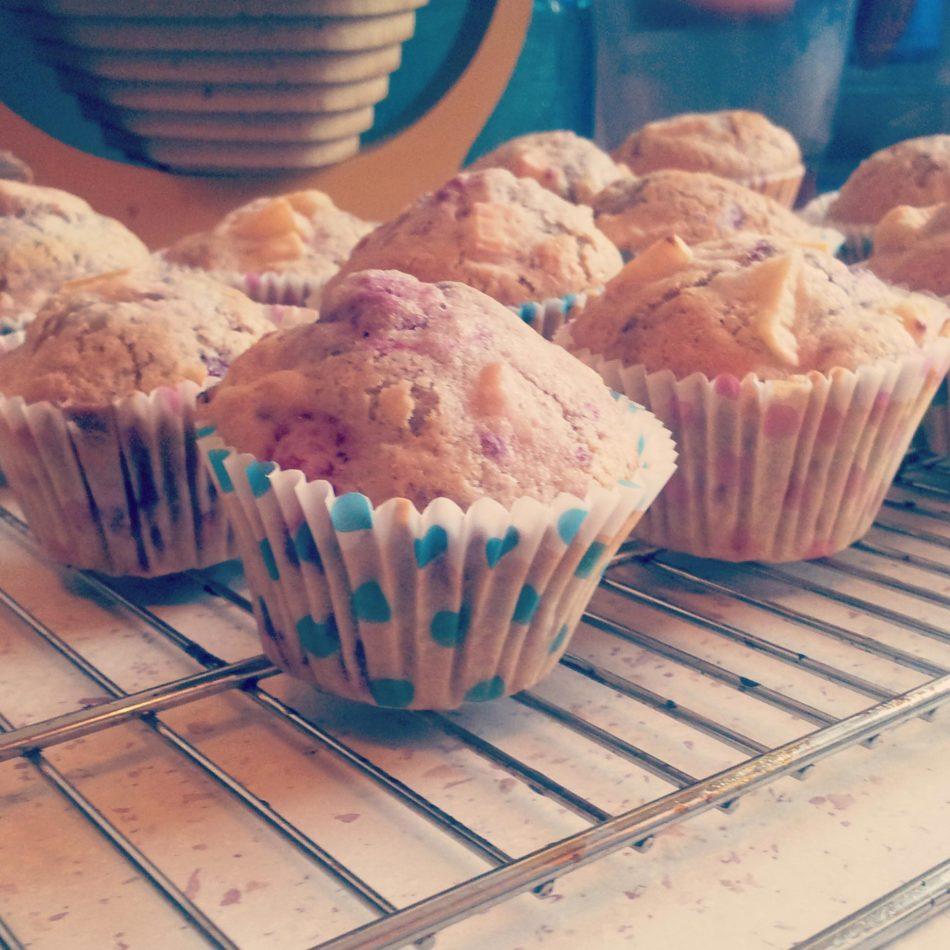 muffin vegan, sans gluten, ninaah bulles, rhubarbe, framboise, girly