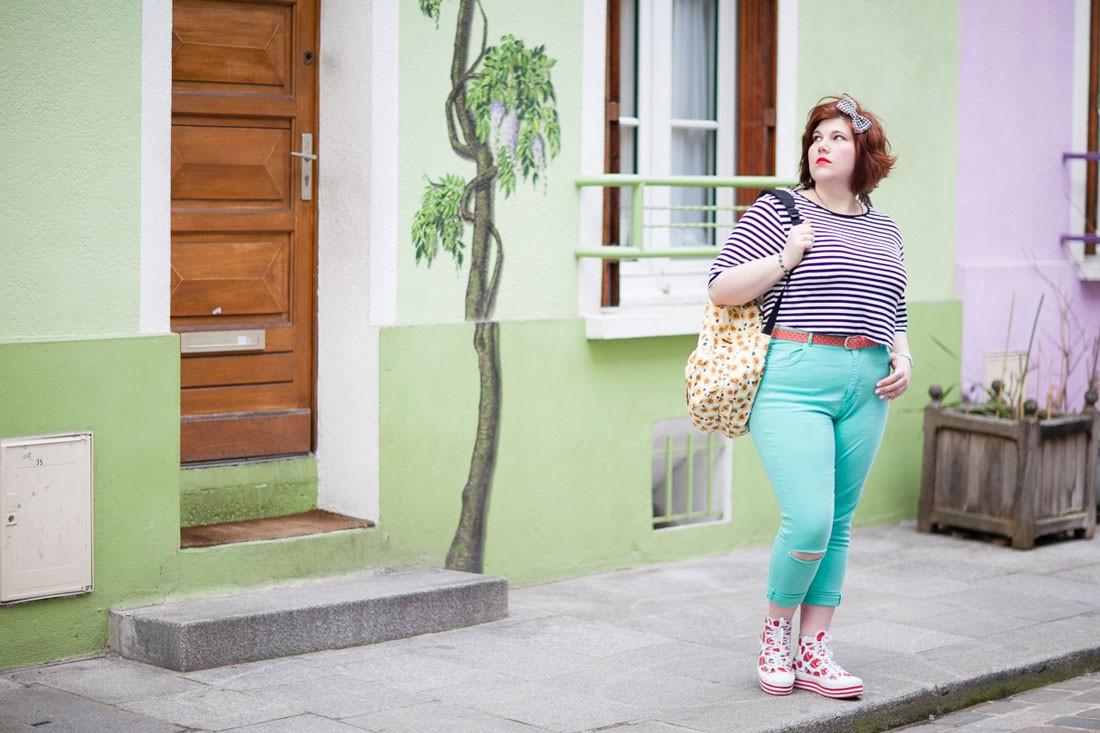 Ninaah Bulles, convers, french curves, grande taille, crop top, ronde, vans, mint, defshop