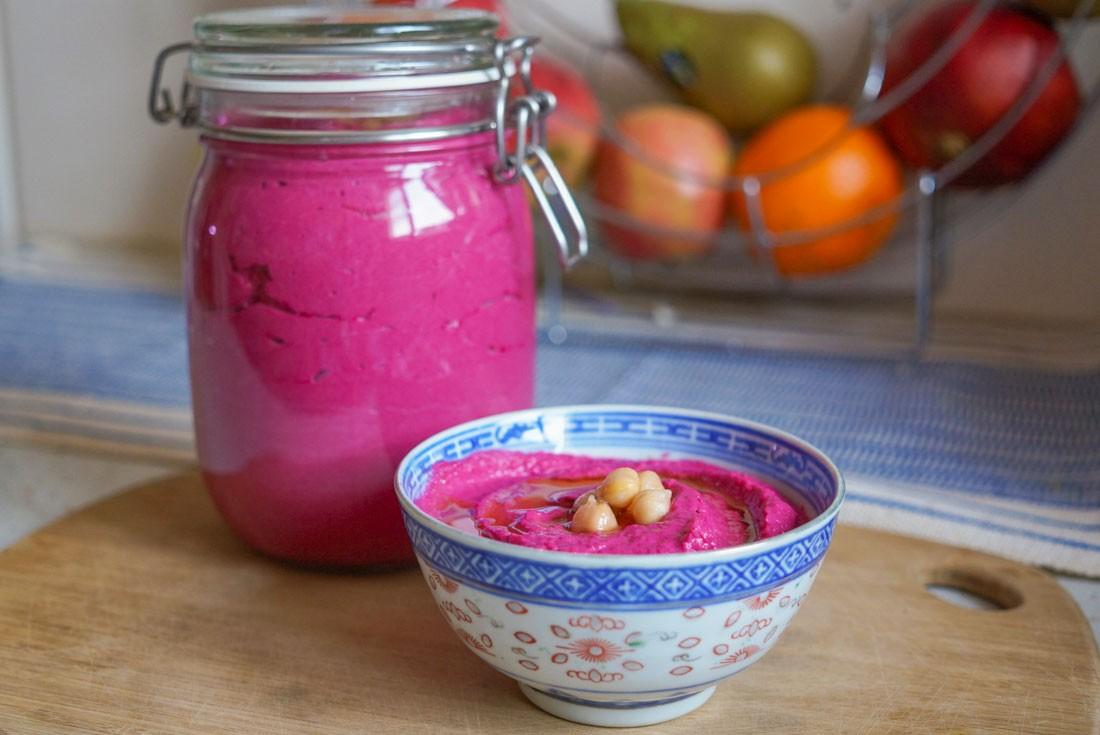 houmous, rose, betterave, ninaah bulles, printemps recette