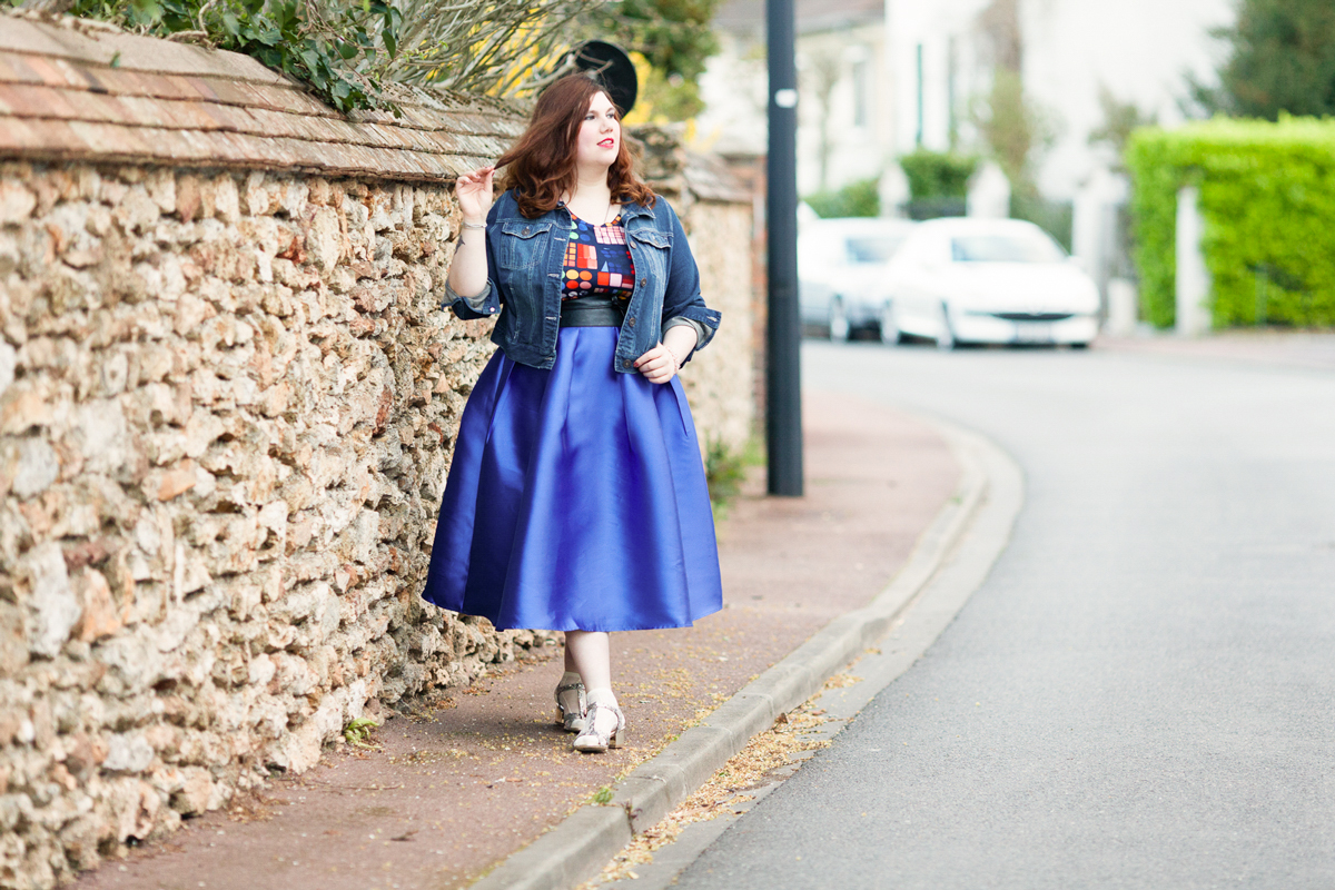 blue, magical, dearcurves, beth ditto, curvy, grande taille, ninaah bulles, look