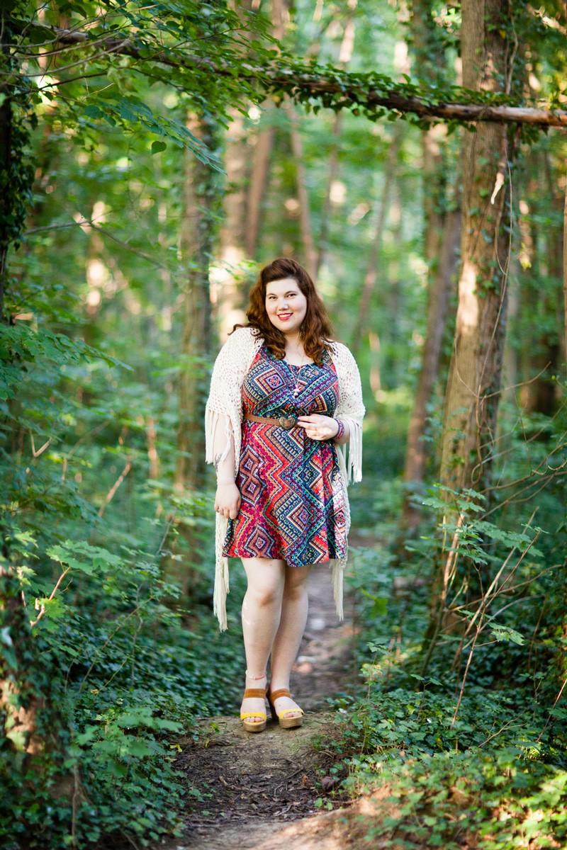 mode, robe, ninaah bulles, navabi, grande taille, curvy, look, tenue, couleur, tropical, folk, ethnique