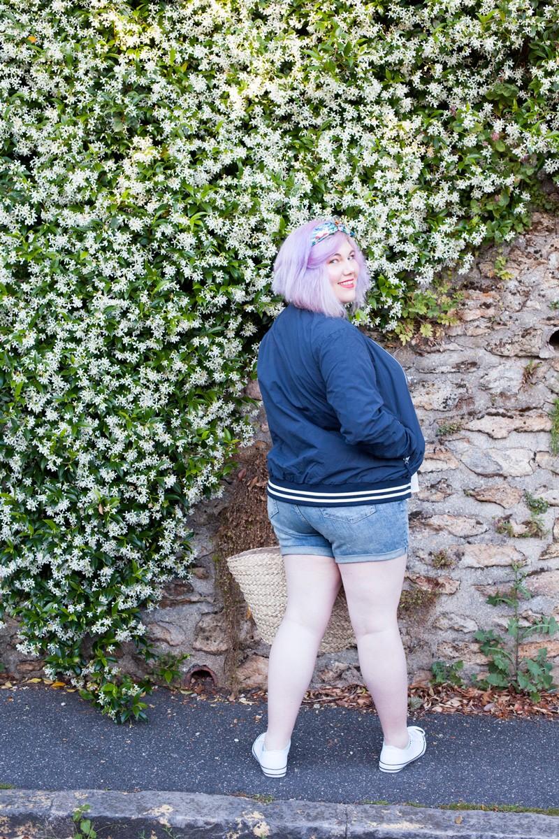 Grande taille, modavista, ninaah bulles, grande taille, brodée, short, oser le short, valise d'été, style positive, bodypositive, blogeuse curvy française, ronde