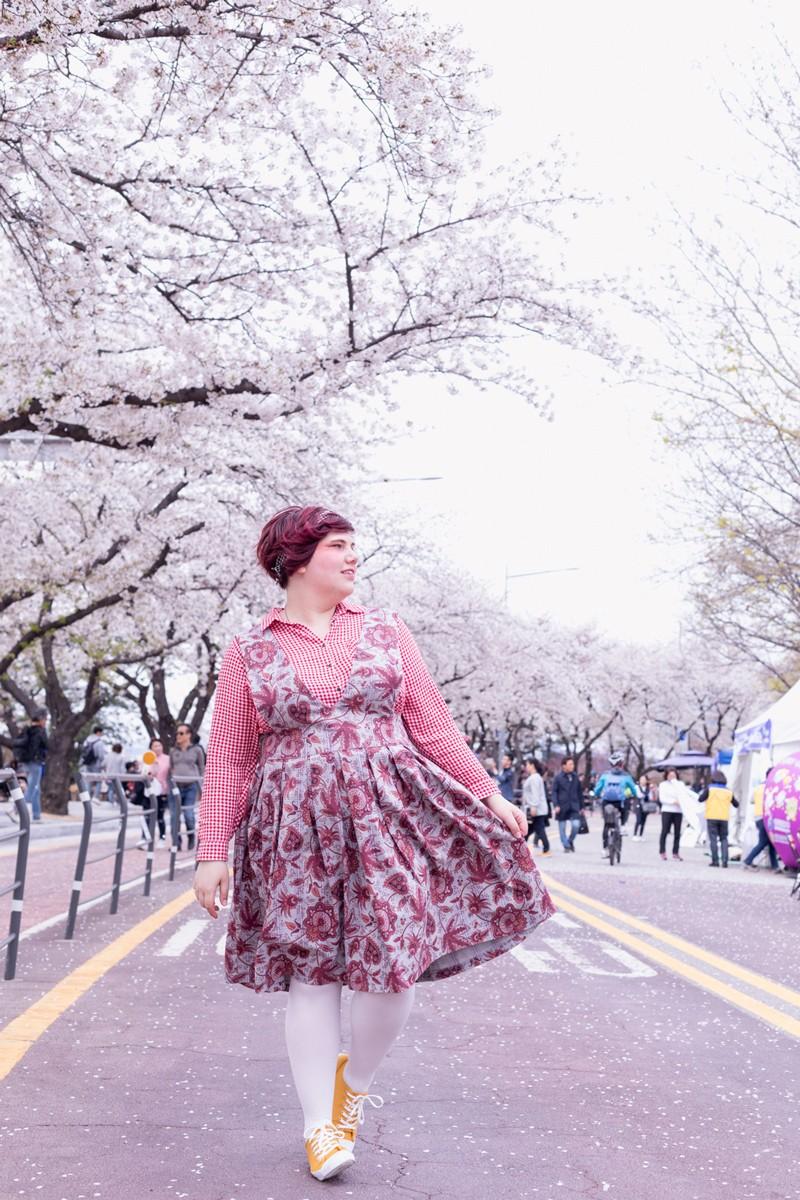 Ninaah Bulles, corée du sud, south korea, cherry blossom, fleurs de cerisier, diy, grande taille, cirvy, ronde, seoul yeouido, voyage