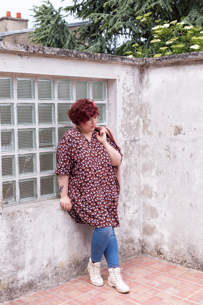 Monki, grande taille, yeux, mode, look, tenue, ninaah bulles, ronde, blogeuse, curvy, decontracter, casual, fashion
