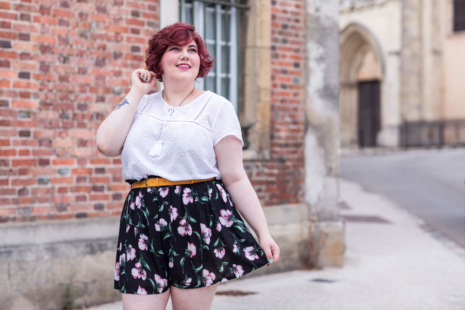 Ninaah Bulles, mode, look, jupe culotte, givenchy, gain de malice, shein, grande taille, plus, plus size, curvy, blogueuse
