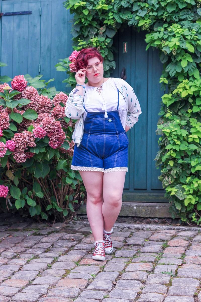 Ninaah Bulles, shein plus size, grande taille, blog mode, anais penelope, bigornot, trio, salopette, mini short