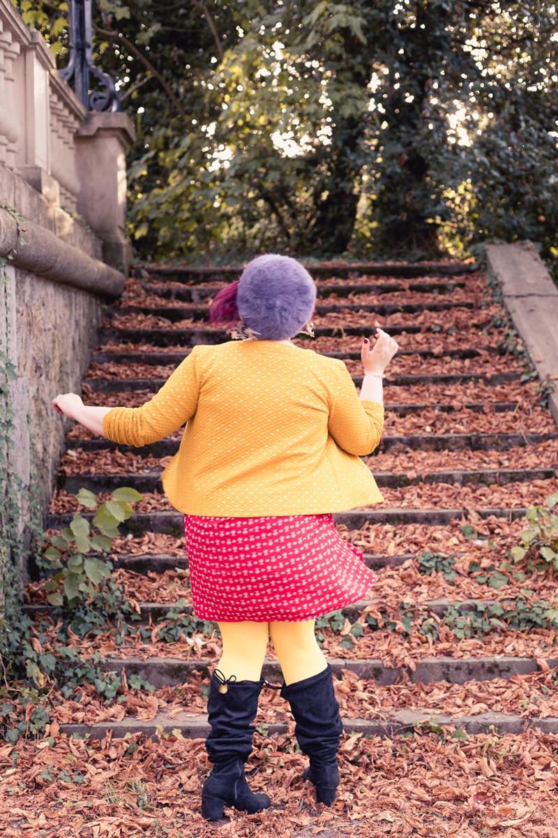 ninaah bulles, grain de malice, taille 48, grande taille, blogeuse ronde, curvu, french, automne, look, folk