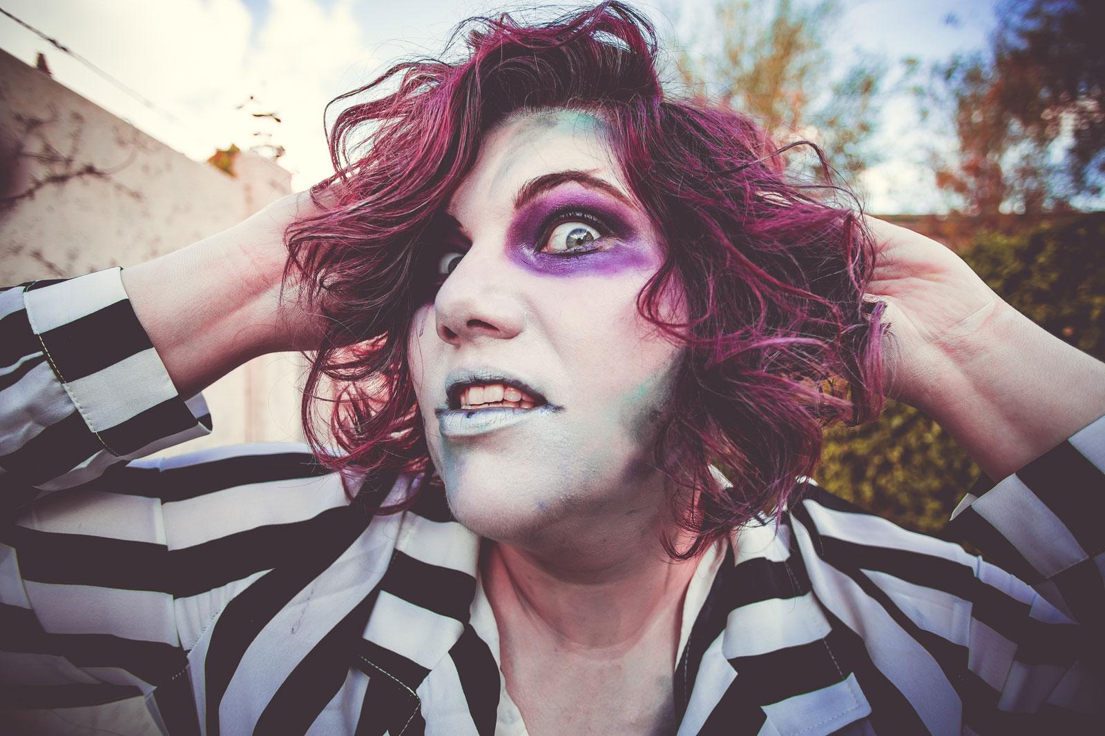 Beetlejuice, ninaah bulles, halloween, costume, maquillahe, shein grande taille, plussize