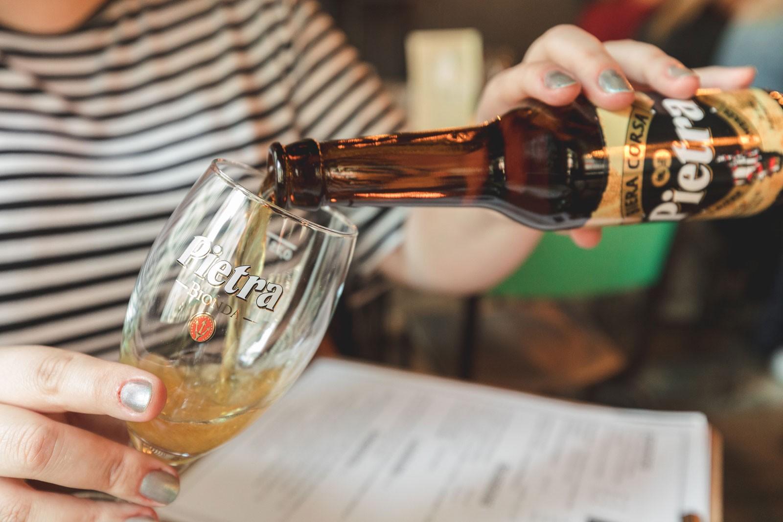 Chez Minnà, restaurant corse, paris, pietra, bière corse