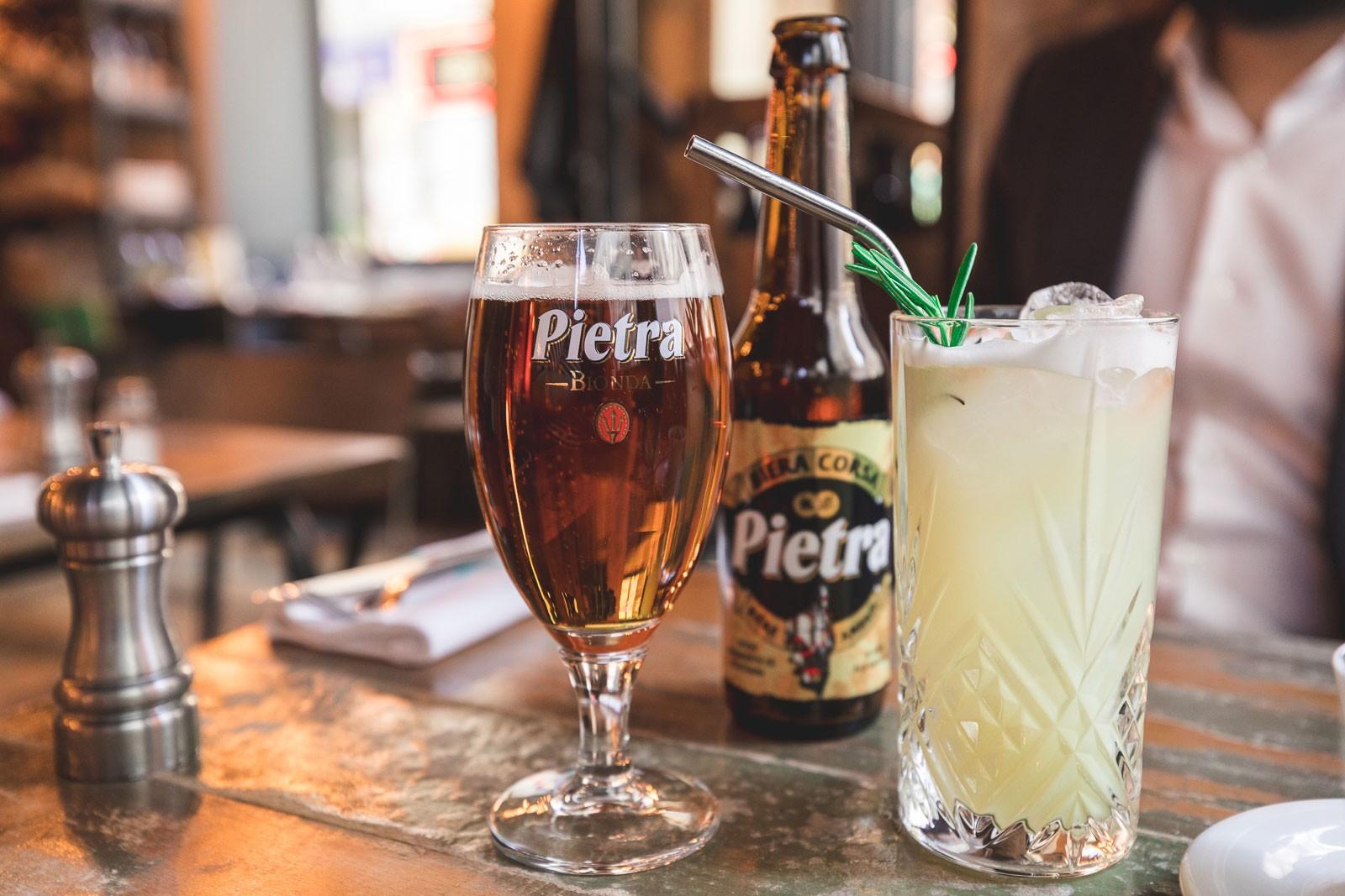Chez Minnà, restaurant corse, paris, bière corse, cocktail châtaigne, pietra