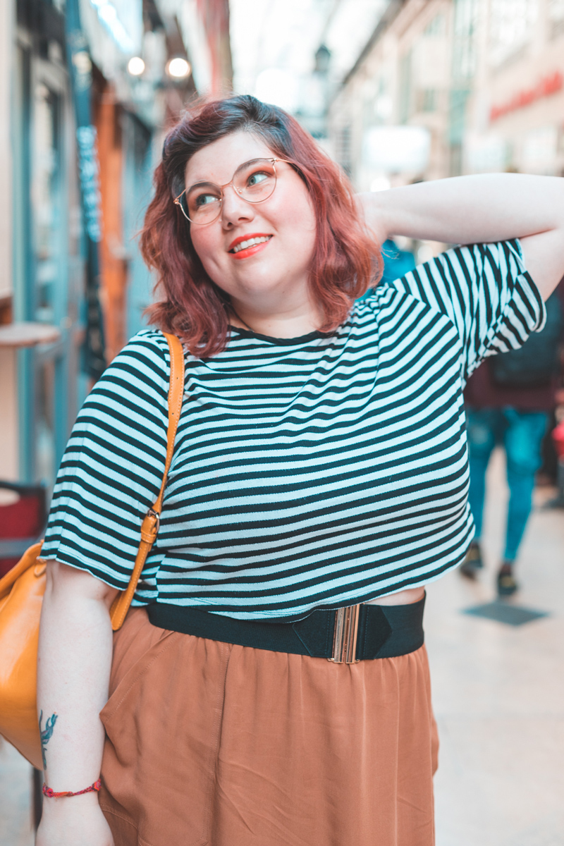 One Spring Night, grande taille mode look, tenue, Paris, mode grande taille coréenne, la halle stephanie zwicky