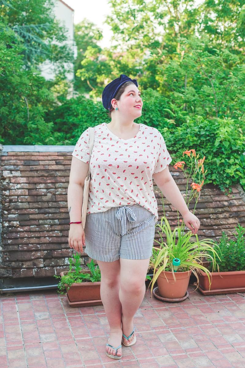 ninaah bulles, short, grande taille, plussize, oser le short, look, été