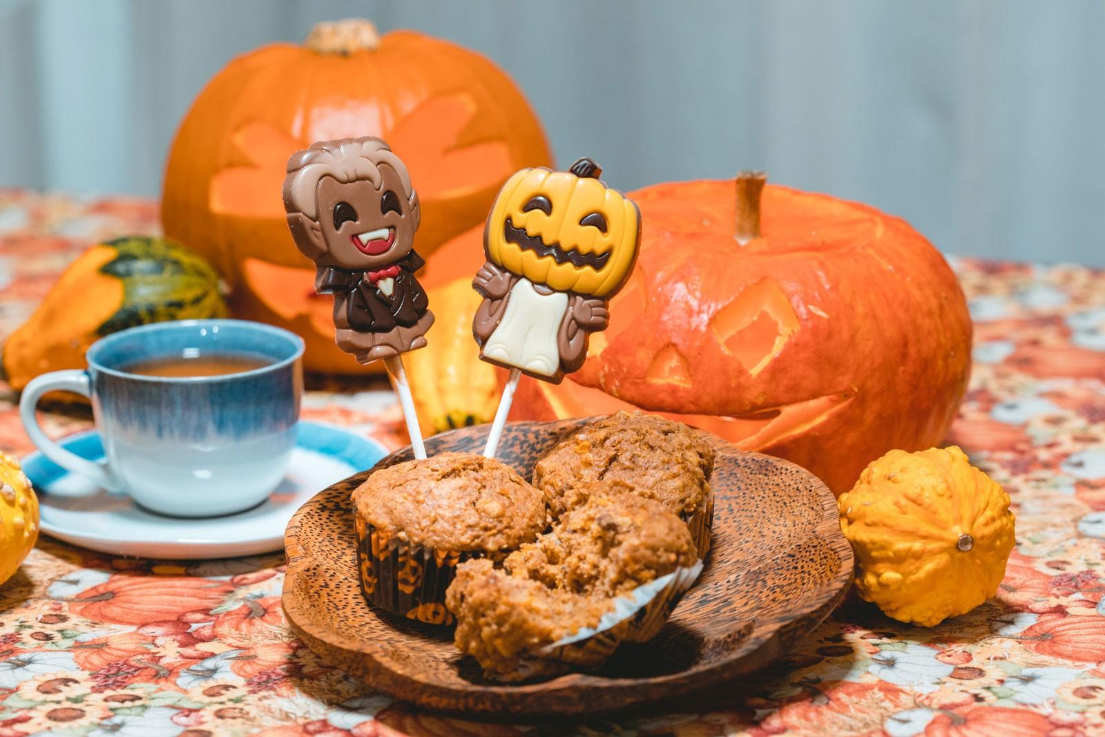 ninaah bulles, citrouilles, citrouille, halloween, recette, muffin, gâteau, noix, épices