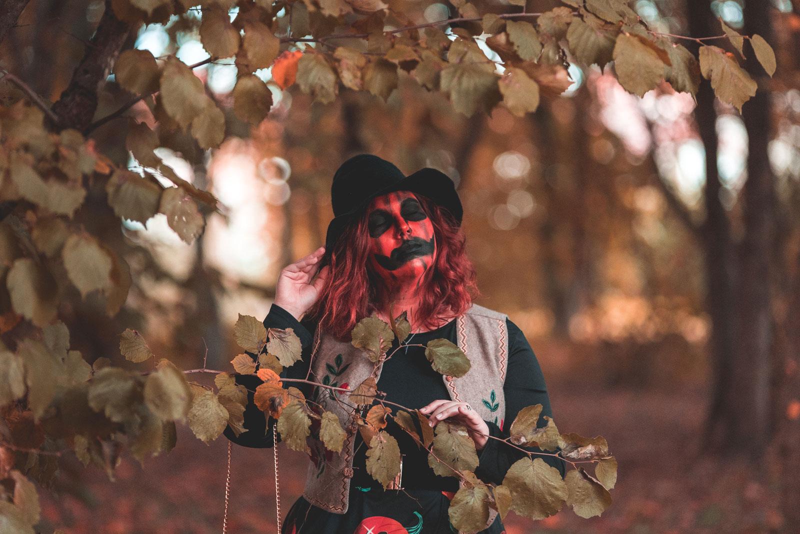 ninaah bulles, citrouilles, citrouille, halloween, sorciere, grande taille, dresslily, look, ginger hair, witch, dresslily plussize